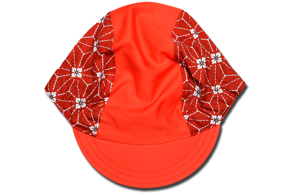 Japanese Sakura Red Cycling Cap
