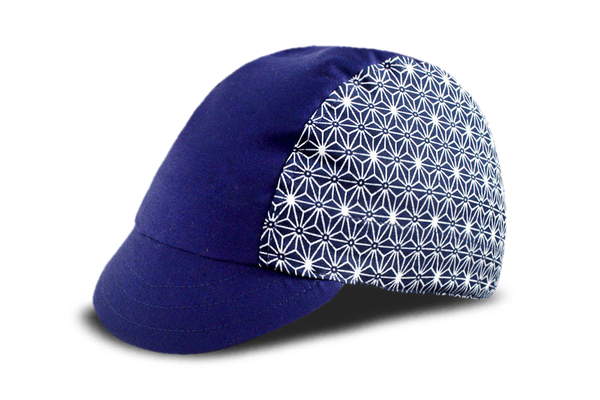 Sashiko Star Blue Cycling Cap