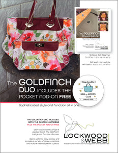 The Goldfinch DUO with FREE Pocket ADD-ON Pattern