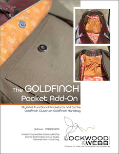 The Goldfinch POCKET ADD-ON Pattern
