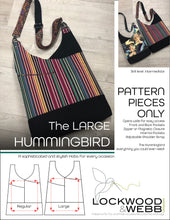 Load image into Gallery viewer, The Hummingbird Hobo LARGE - PATTERN PIECES Only