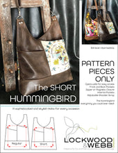 Load image into Gallery viewer, The Hummingbird Hobo SHORT - PATTERN PIECES Only