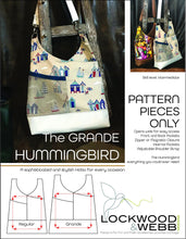 Load image into Gallery viewer, The Hummingbird Hobo GRANDE - PATTERN PIECES Only
