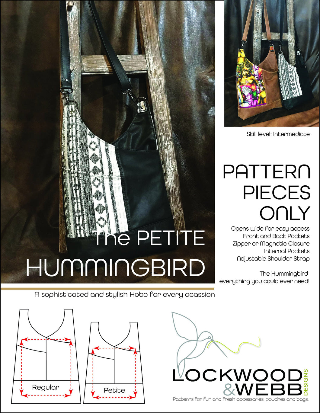 The Hummingbird Hobo PETITE - PATTERN PIECES Only