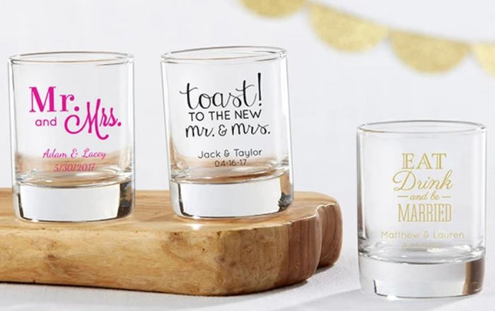 Why Personalized Glassware is a Great, Practical Favour Idea!