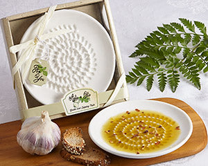 Artisano Designs Oil & Vinegar Dipping Plates and Grater Plates