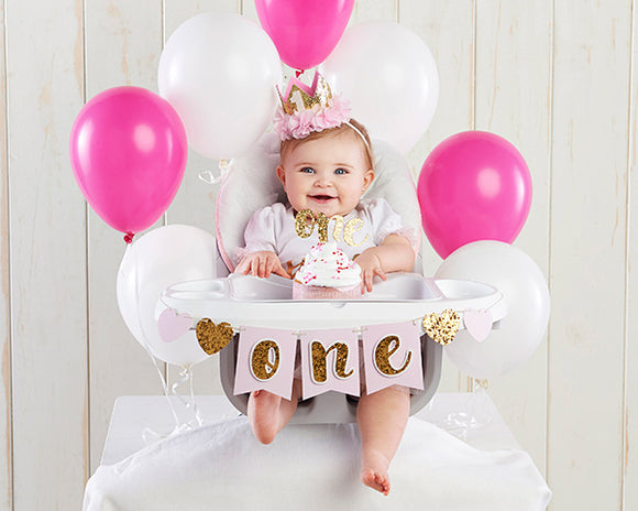 Gold Glitter 1st Birthday D...cor Kit