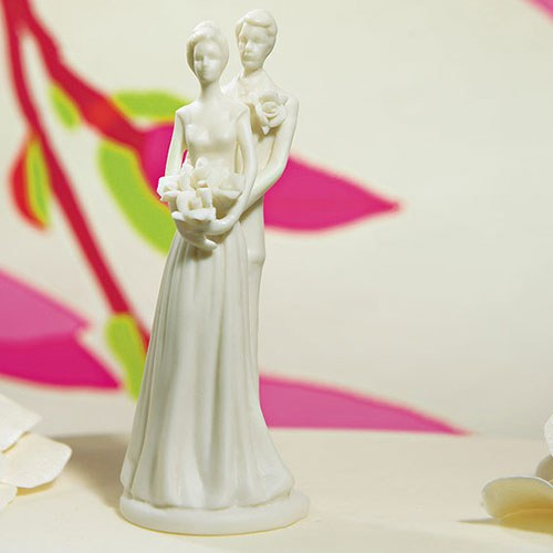 Contemporary Bride & Groom Figurine Small