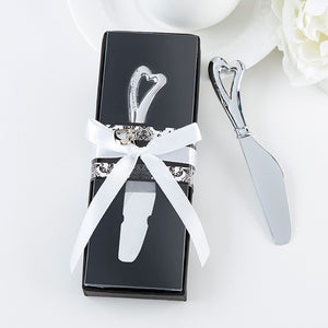 """Spread the Love"" Chrome Spreader with Heart Shaped Handle - InCasaGifts"