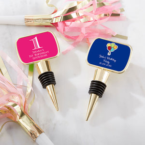Personalized Gold Bottle Stopper - Birthday (Personalization Cost Included!) - InCasaGifts