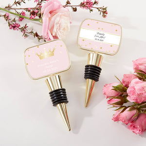 Personalized Gold Bottle Stopper - Princess Party
