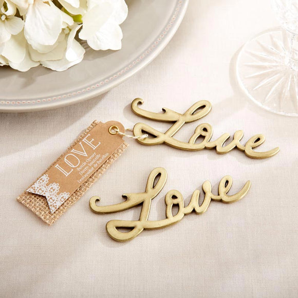 Love Antique Gold Bottle Opener - InCasaGifts