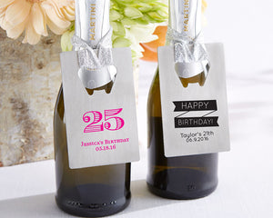 Personalized Silver Credit Card Bottle Opener - Birthday