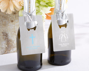 Personalized Silver Credit Card Bottle Opener - Religious - InCasaGifts