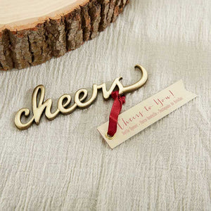 Cheers Antique Gold Bottle Opener - InCasaGifts