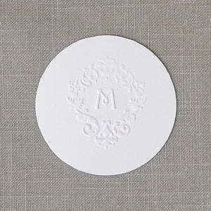 Small Round Cards Plain - White