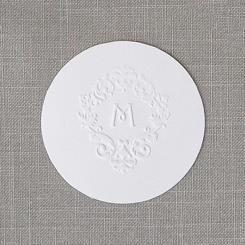 Small Round Cards Plain - White - InCasaGifts