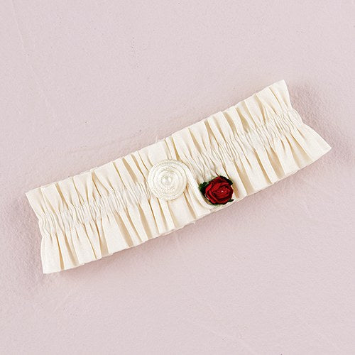 Flower of Love Bridal Garter Ivory