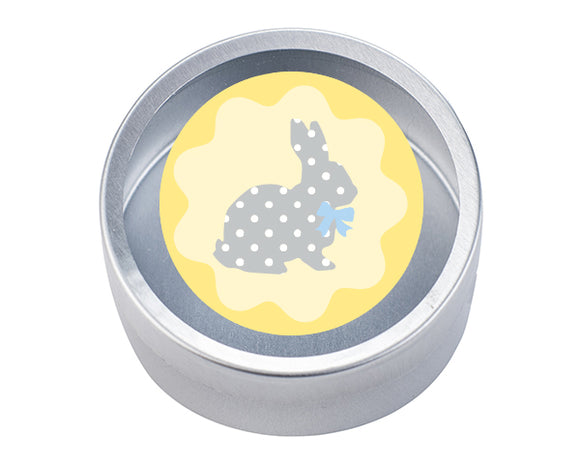 Easter Bunny Round Candy Tin (Set of 12)
