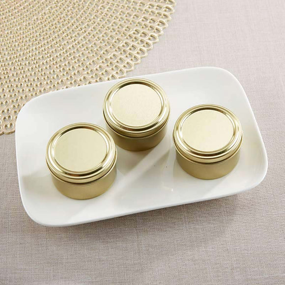 Gold Round Candy Tin - DIY (Set of 12) - InCasaGifts