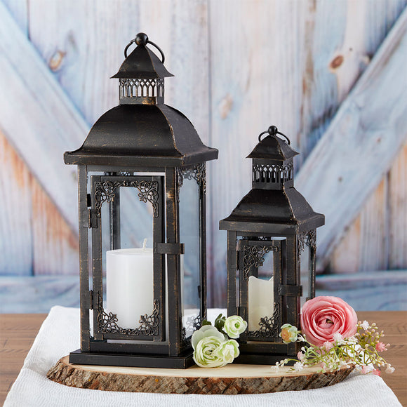 Antique Black Ornate Lantern - Small - InCasaGifts