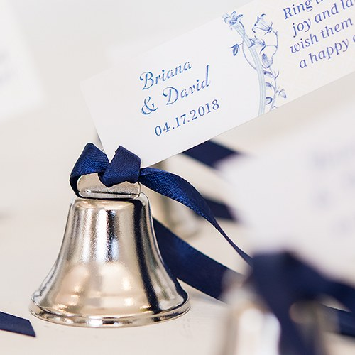 Mini Wedding Bells Favor - Silver (24)