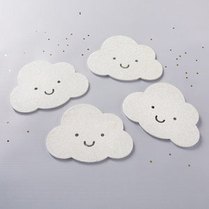 White Glitter Cloud Shaped Coaster (Set of 4) - InCasaGifts