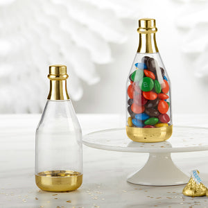 Gold Metallic Champagne Bottle Favor Container - DIY (Set of 12) - InCasaGifts