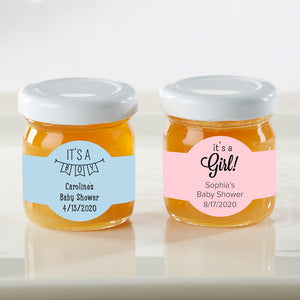 Personalized Honey Jar - Baby Shower (Set of 12) (Personalization Cost Included!) - InCasaGifts