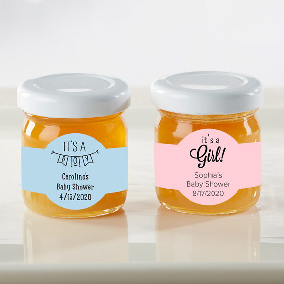 Personalized Honey Jar - Baby Shower (Set of 12) (Personalization Cost Included!)