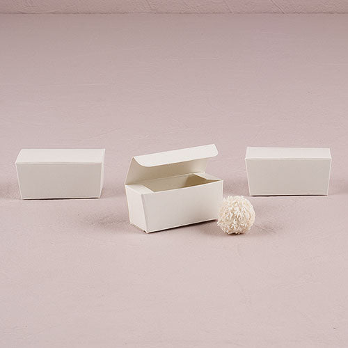White Favor Boxes Standard Truffle Box