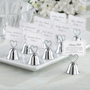 """Kissing Bell"" Place Card/Photo Holder (Set of 24) - InCasaGifts"