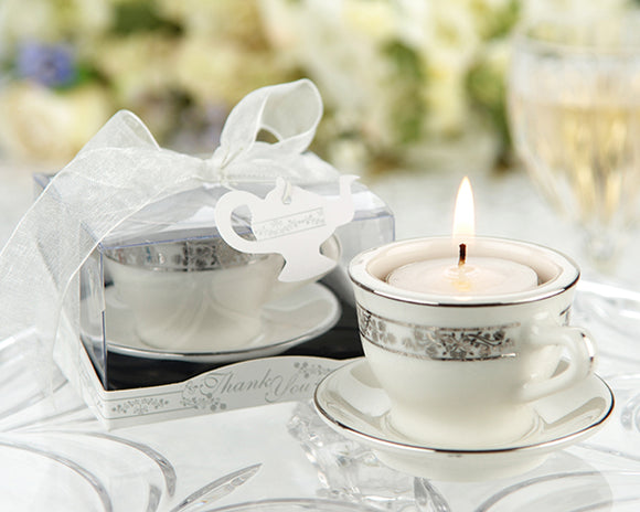 Teacups & Tea Lights Miniature Porcelain Tea Light Holder - InCasaGifts