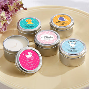 Travel Candle - Baby Shower (Personalization Cost Included!)
