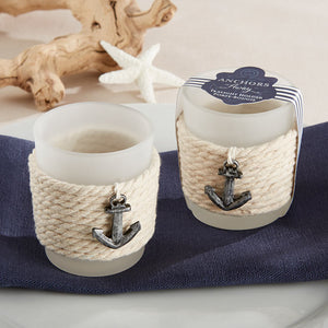"""Anchors Away"" Rope Tea Light Holder (Set of 4) - InCasaGifts"