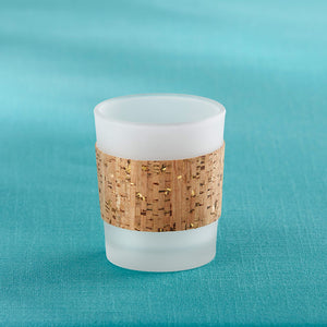 Tropical Chic Gold Glitz Cork Wrapped Tea Light Holder (Set of 4) - InCasaGifts