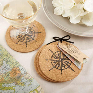 Let the Journey Begin Cork Coaster (Set of 4)