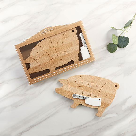 Farmhouse Pig Cheeseboard Gift Set - InCasaGifts