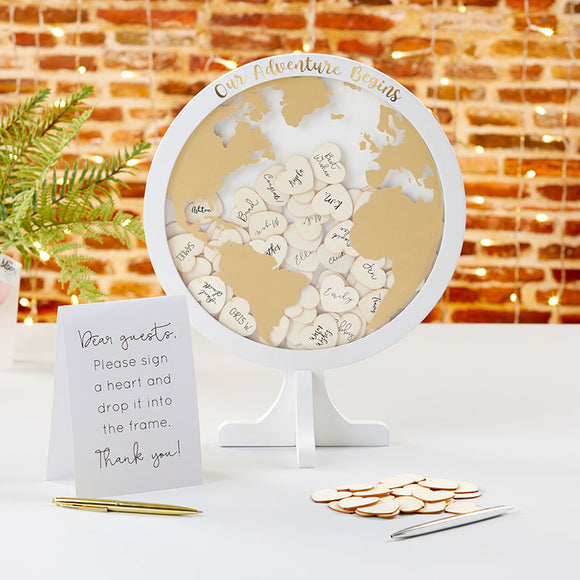 Wedding Guest Book Alternative - Globe - InCasaGifts