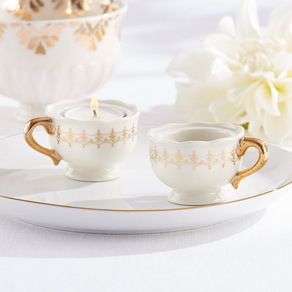 Classic Gold Teacups Tea Light Holder (Set of 4) - InCasaGifts