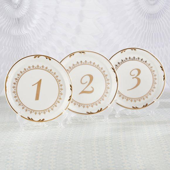 Tea Time Vintage Plate Table Numbers (1-6) - InCasaGifts