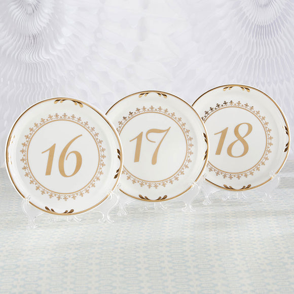 Tea Time Vintage Plate Table Numbers (13-18) - InCasaGifts