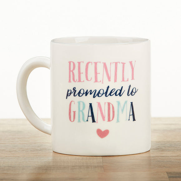 Promoted To Grandma 16 oz. White Coffee Mug - InCasaGifts
