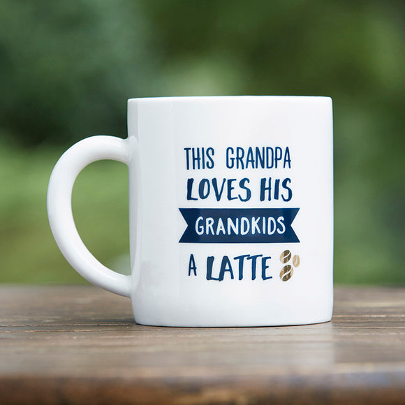 Grandpa Latte 16 oz. White Coffee Mug - InCasaGifts