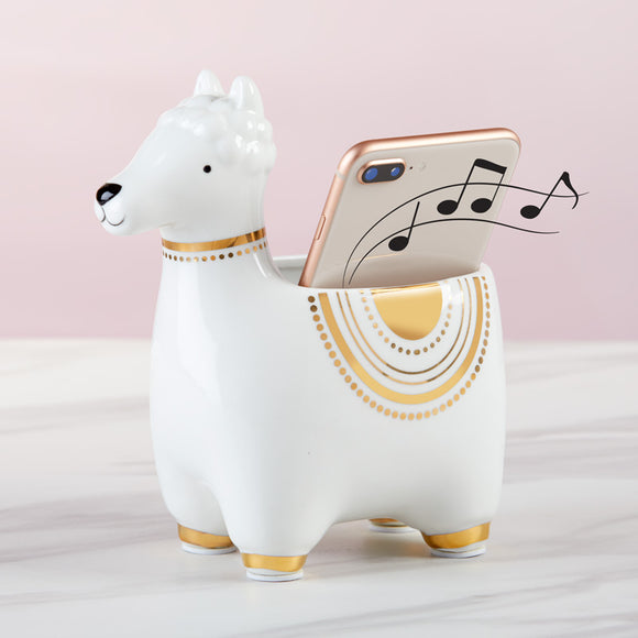 Llama Ceramic Phone Amplifier - InCasaGifts