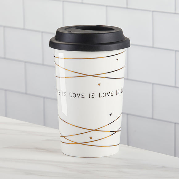 Love is Love 15 oz. Ceramic Travel Mug - InCasaGifts
