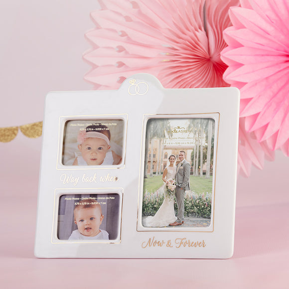 Now & Then Ceramic Photo Frame - InCasaGifts