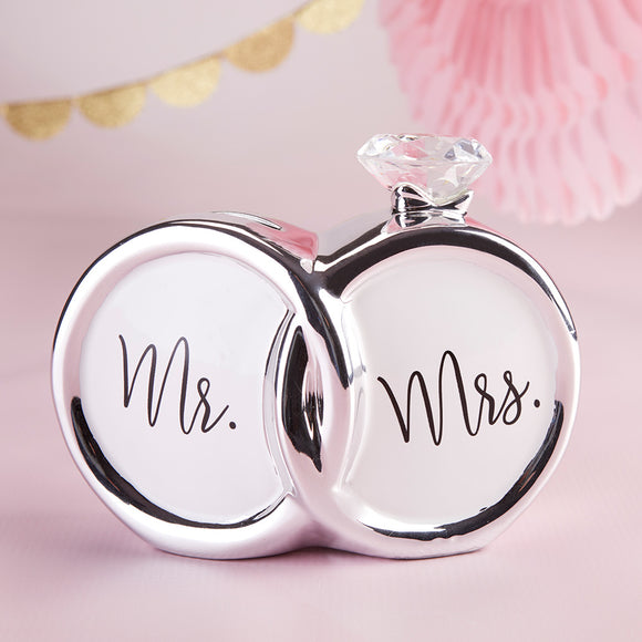 Mr. & Mrs. Diamond Ring Ceramic Bank - InCasaGifts