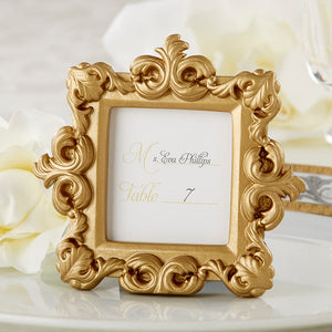 """Royale"" Gold Baroque Place Card/Photo Holder - InCasaGifts"