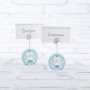 Baby Boy Blue Place Card Holder (Set of 6) - InCasaGifts